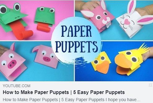 Papierowe kukiełki