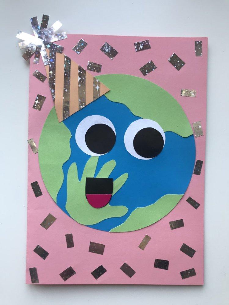 Planeta Ziemia - praca plastyczna od klasy 3b