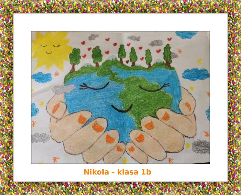 """""""Moja planeta – Ziemia"""" - plakaty od klasy 1b"""