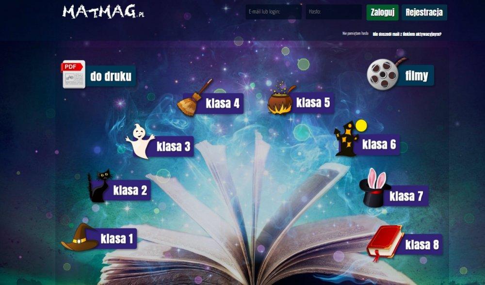 MATMAG - gry izadania zmatematyki