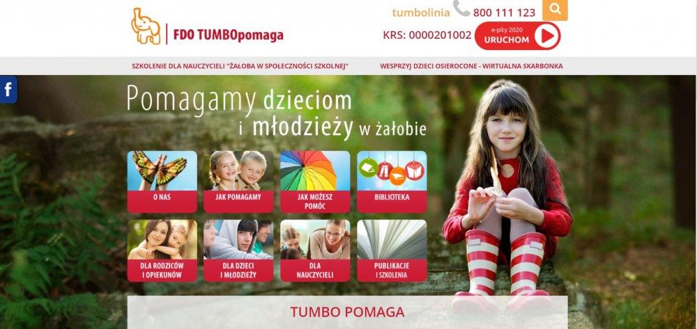 Tumbo pomaga - pomoc wżałobie dla dzieci imłodzieży